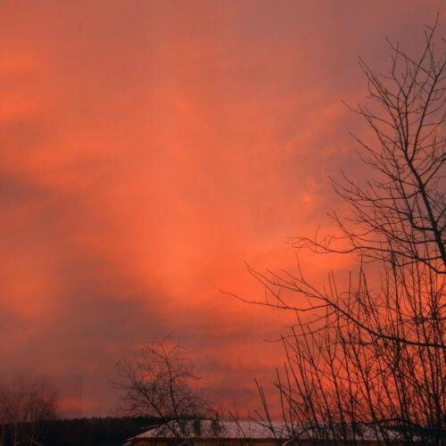 Фото дня 12.11. Суровый закат в Шале (фото: Леонид Логинов)