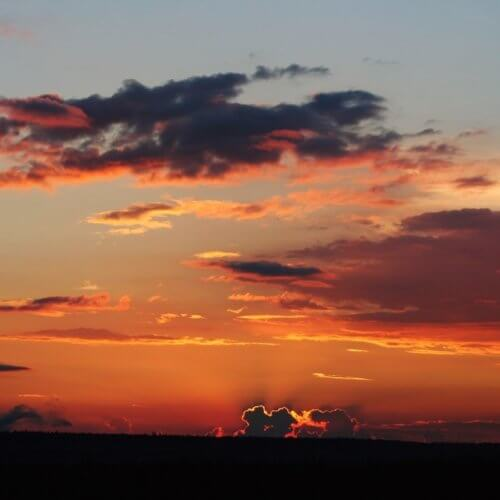 Фото дня 07.08. Вчерашний закат, д. Павлы